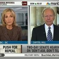 Watch: Joe Lieberman Disagrees with McCain's Bigotry-Based Opposition to 'DADT' Repeal