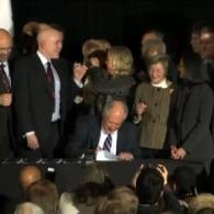 Watch: Illinois Governor Pat Quinn Signs Civil Union Bill Into Law