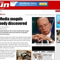 Hackers Pronounce Rupert Murdoch Dead on Front Page of His 'Sun' Tabloid