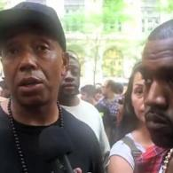 Kanye West Goes to 'Occupy Wall Street' Protest with Spokesman Russell Simmons: VIDEO