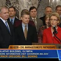 Washington Governor Chris Gregoire Signs Marriage Equality Bill Into Law: VIDEO