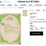 Urban Outfitters Hawks 'Charming' Card About a 'Closet Tranny'