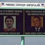 Idaho Billboard Equates Obama with Colorado Killer James Holmes