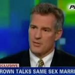 MA Senator Scott Brown Repeats Assertion That  Gay Marriage is 'Settled Law', Won't Comment on DOMA