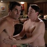 Matthew Broderick and Ty Burrell Have a Nipple-to-Nipple Moment and a Kiss on 'Modern Family': VIDEO