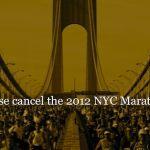 NYC Marathon Canceled