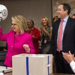 Hillary Clinton Given Helmet Upon Return to State Department