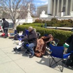 People Are Already Waiting in Line at Supreme Court to Hear Arguments on Prop 8. and DOMA: PHOTO