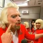 Sir Richard Branson Dons Drag, Serves as Flight Attendent After Losing Bet: VIDEO