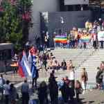 Olympic Flame Met With Protest In Athens Over Russian Anti-Gay Laws
