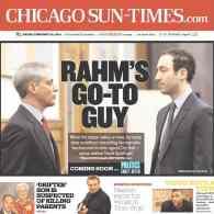 'Chicago Sun-Times' Offers Front Page Profile on Rahm Emanuel's Gay Adviser David Spielfogel