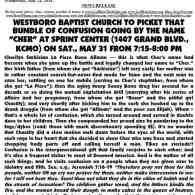 Westboro Baptist Church to Picket 'That Bundle of Confusion Going by the Name Cher'