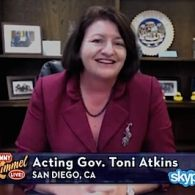 Jimmy Kimmel Speaks to California's First Gay Governor (for a few hours) Toni Atkins: VIDEO