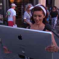 Jimmy Kimmel Dupes People on the Streets With Prototype of Apple's 'Largest iPad Ever' – VIDEO
