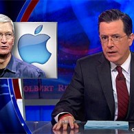 Stephen Colbert Wags His Finger at Tim Cook's Gayness: VIDEO
