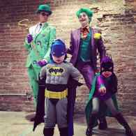 Neil Patrick Harris, David Burtka and Kids Go Gotham for Halloween Family Costume: PHOTO
