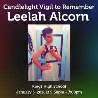 Candlelight Vigil Remembering Transgender Teen Leelah Alcorn Scheduled for Jan. 3
