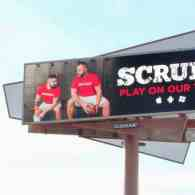 Scruff Posts Huge Gay Ad On Billboard Outside University Of Phoenix Stadium Ahead of Super Bowl Sunday