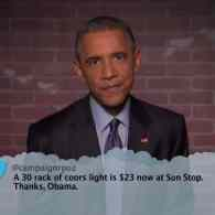 President Obama Reads Mean Tweets on Jimmy Kimmel Live: VIDEO