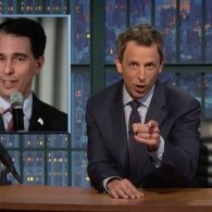 Seth Meyers Mocks Scott Walker's Gay Wedding Excuse: 'You Sir, Are a Freeloader' – VIDEO