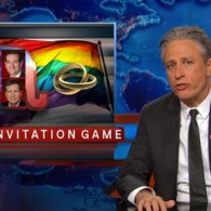 Jon Stewart Laughs at the 2016 GOP Candidates' Pathetic Attempts to Respond to Gay Wedding Invites: VIDEO