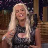 Kristen Wiig Stops By 'The Tonight Show' As Game of Thrones' Dragon Queen Khaleesi: VIDEO