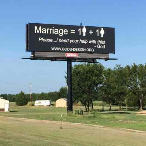anti-gay billboard