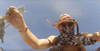 GoPro Falls Off Drone into Burning Man Dance Floor