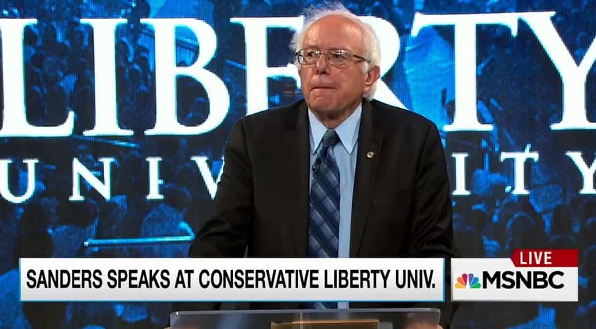 Bernie Sanders Liberty University