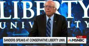 Bernie Sanders speaks at Liberty University