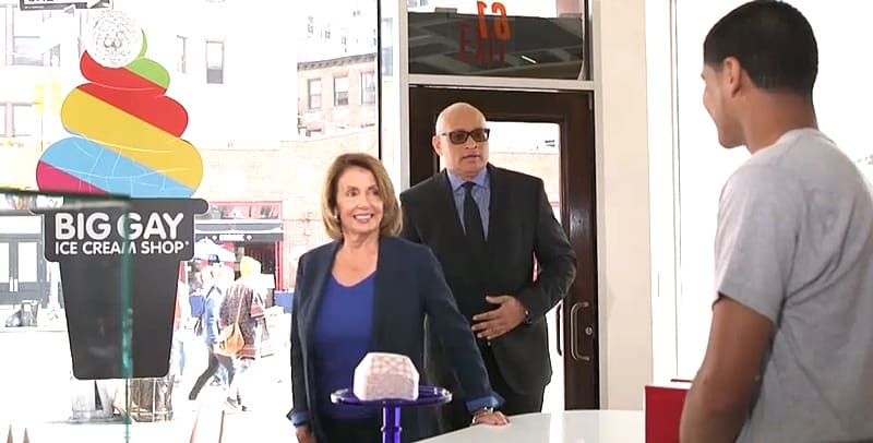 Nancy Pelosi Big Gay Ice Cream shop
