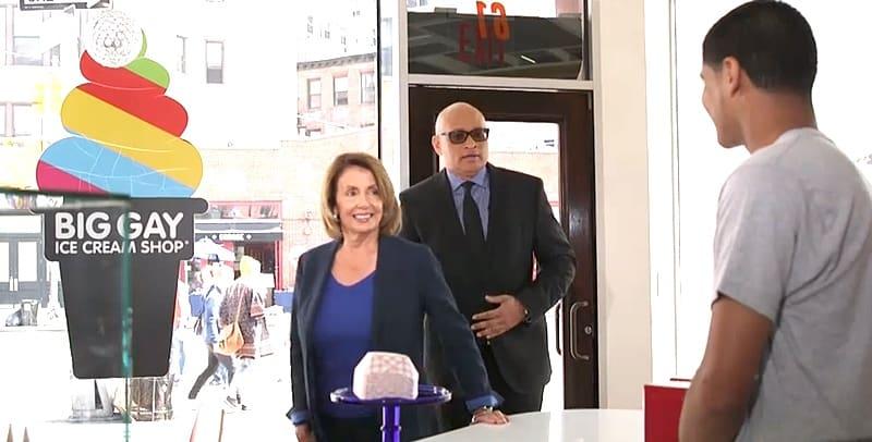 Nancy Pelosi Big Gay Ice Cream shop