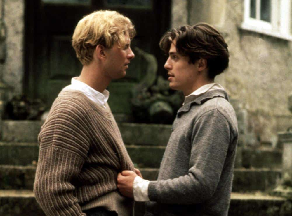 A still from the 1987 film 'Maurice' starring James Wilby and Hugh Grant