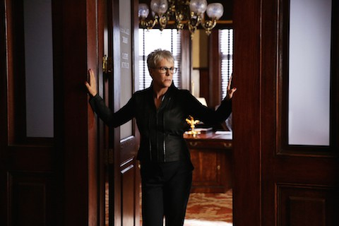"SCREAM QUEENS: Jamie Lee Curtis in the ""Beware Of Young Girls"" episode of SCREAM QUEENS airing Tuesday, Nov. 3 (9:00-10:00 PM ET/PT) on FOX. ©2015 Fox Broadcasting Co. Cr: Patti Perret/FOX."