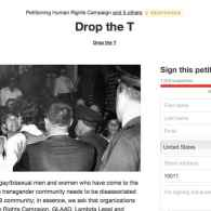 HRC, GLAAD React to Online Petition Calling for LGBT Groups to 'Drop the T'