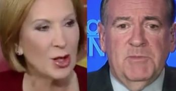 Carly Fiorina Mike Huckabee
