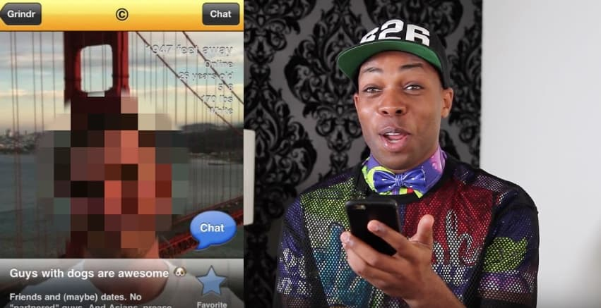 racist grindr profiles