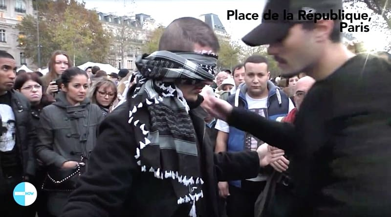 blindfolded Muslim