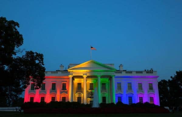 white house pride lights