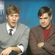 Dustin Lance Black and Gus Van Sant