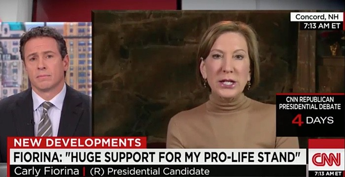 Carly Fiorina lashes out at Chris Cuomo