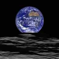 NASA Releases Vivid New Image of 'Earthrise' Over the Moon's Surface