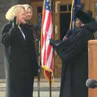 Jackie Biskupski Sworn In As Salt Lake City's 1st Gay Mayor, As Marriage Plaintiff Derek Kitchen Joins Council