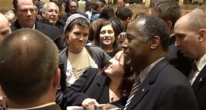 Ben Carson confronted by activist