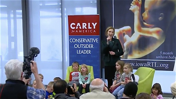 Carly Fiorina ambushes preschoolers