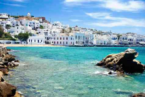 Mykonos Harbor in ManAboutWorld gay travel magazine and Towleroad