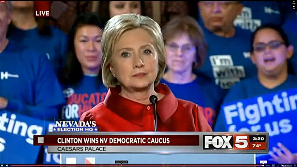 Nevada democratic caucuses hillary Clinton