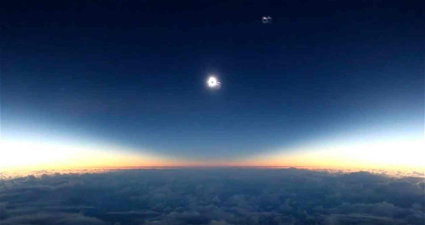 solar Eclipse from alaska airlines