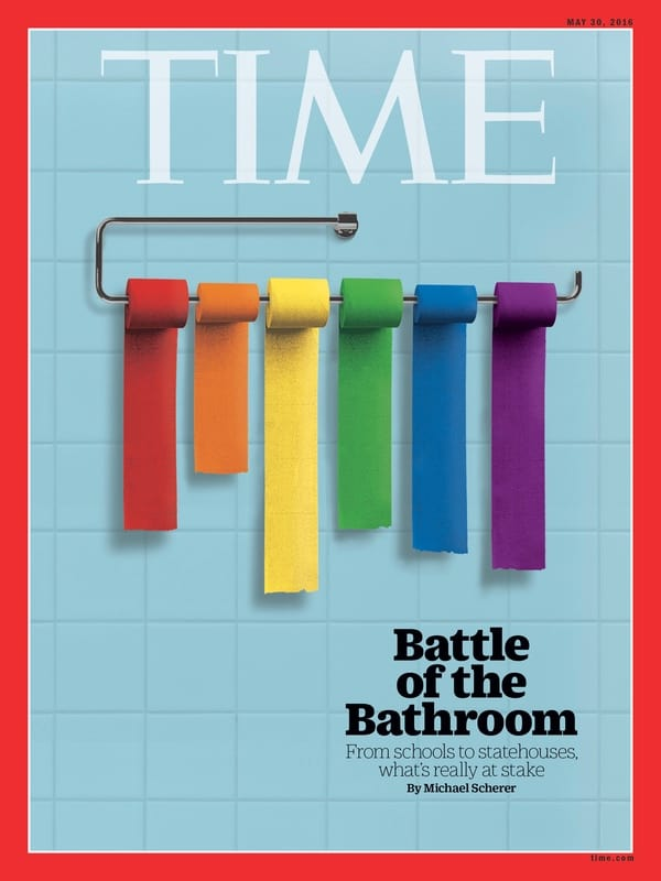 TIME magazine bathroom