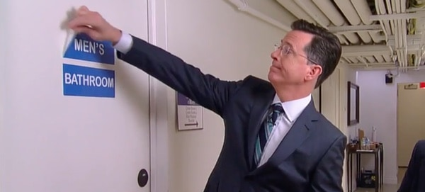 Stephen Colbert bathrooms
